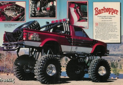 Barhopper featured in April 85 Truckin Magazine