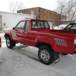 1986 Toyota 4x4 X-tra Cab Red
